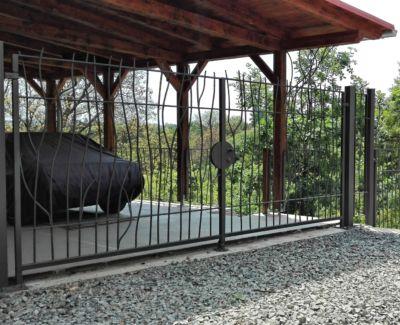Kovaná brána, branka a plot